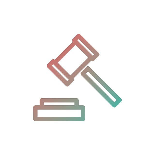 Auction, Icon, Symbol, Flat, Sign, Hammer, Business