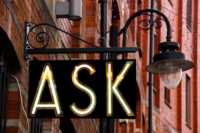 Ask, Sign, Design, Creative, Information, Help