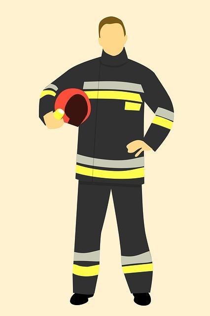 Fire, Fireman, Hand, Sign, Firemen, Male, 911