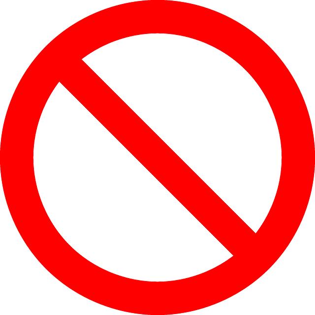 No Symbol, Prohibition, Sign, Prohibited, Symbol