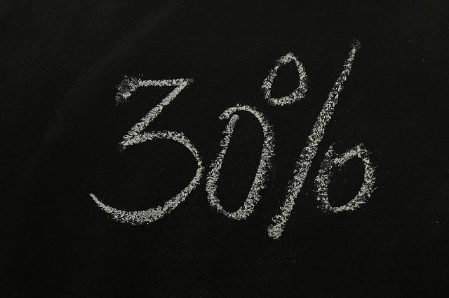 Thirty, Percent, Statistics, Money, Sign On, Symbol