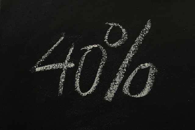 Forty, Percent, Statistics, Money, Sign On, Symbol