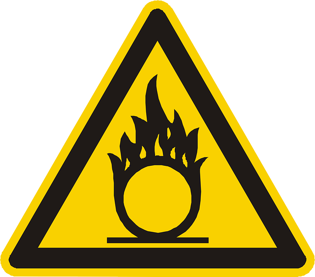 Oxidizing, Oxidant, Warning, Attention, Yellow, Sign