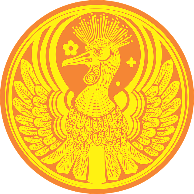 Phoenix, Bird, Legend, Coin, Fire, Sign