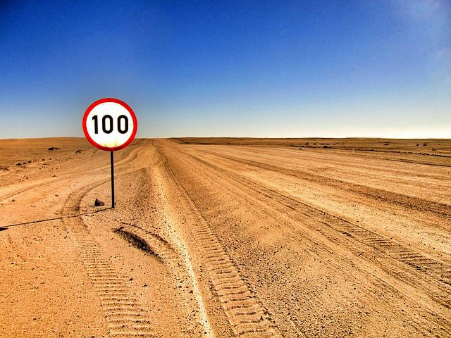 Desert, Road, Sand, Sign, Sky