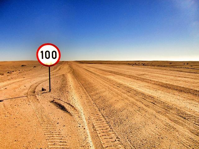 Desert, Road, Sand, Sign, Sky