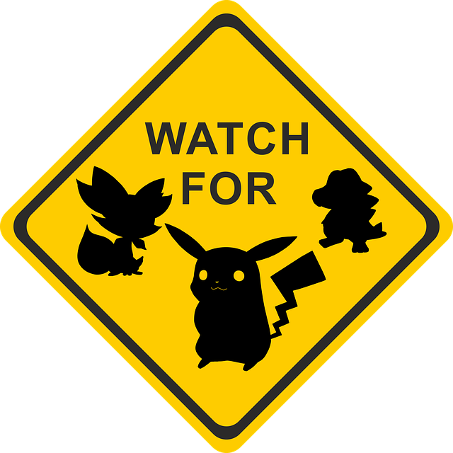Pokemon, Shield, Note, Play, Sign, Risk, Road Sign