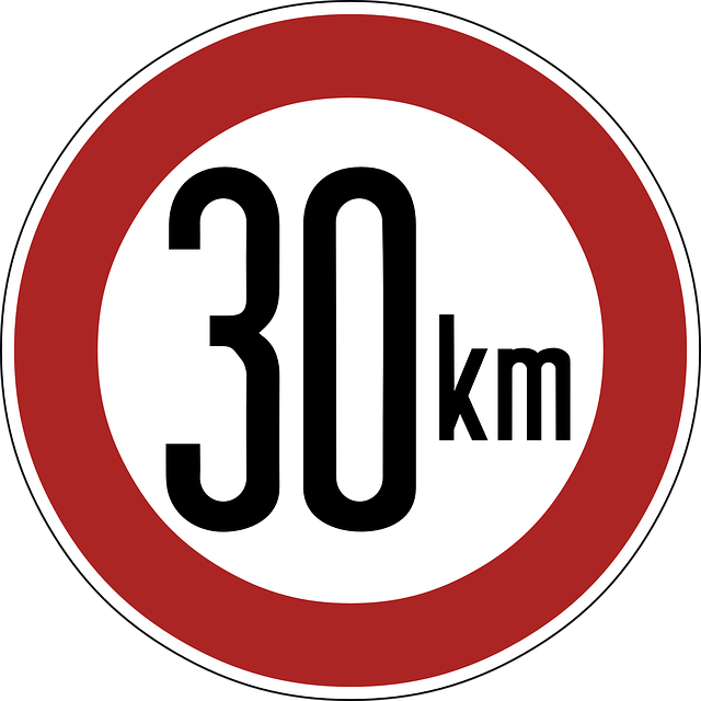 Speed Limit, Sign, 30 Km, Thirty Kilometers, Warning