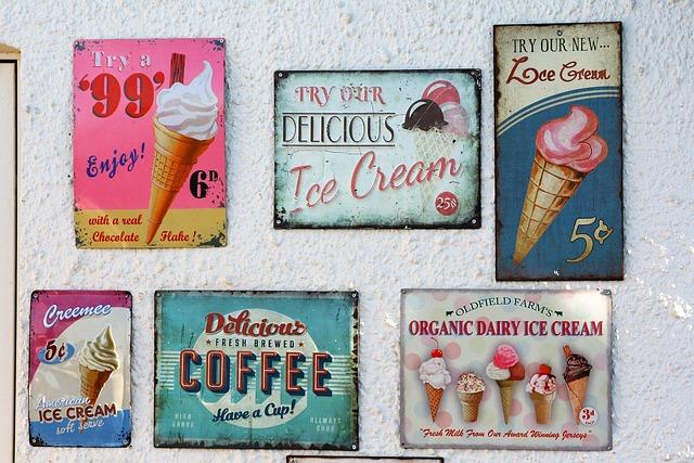 Sign, Vintage, Ice Cream, Retro, Vintage Sign