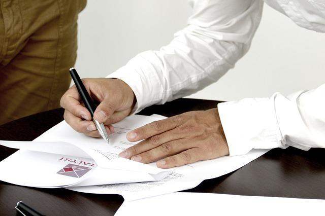 Signature, Contract, Person Signing A Document