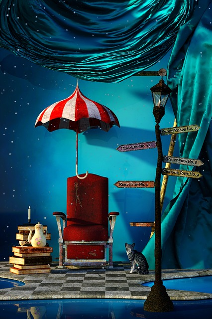 Halloween, Alice In Wonderland, Chair, Screen, Signs