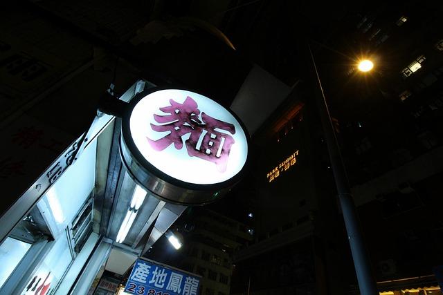 Restaurant, Signs, Hong Kong, Night