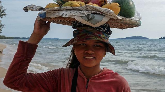 Cambodia, Asia, Sihanoukville, Sea, Beach, Girl