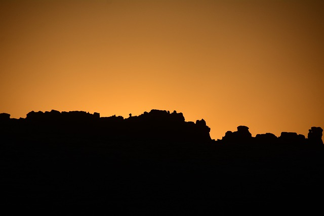 Sunrise, Silhouette, Arches National Park, Utah