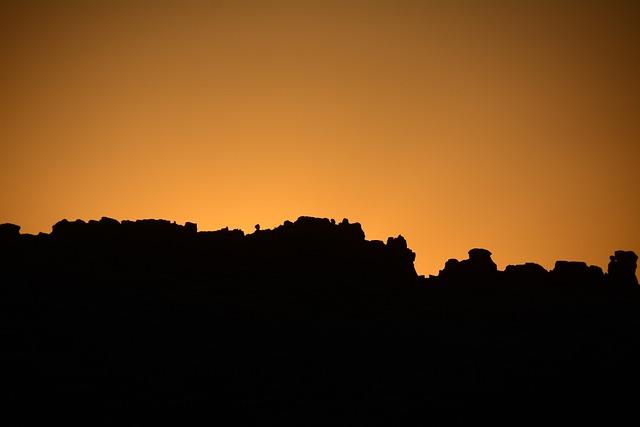 Sunrise, Silhouette, Arches National Park, Utah