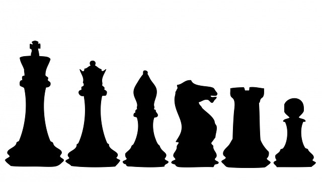 Chess, Chess Pieces, Chess Piece, Black, Silhouette
