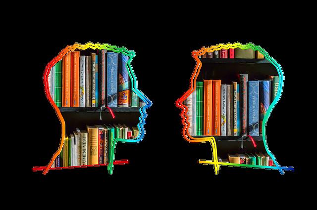 Silhouette, Head, Bookshelf, Know, Information