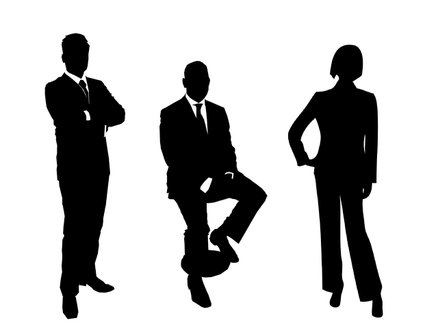 Businessmen, Group, Silhouette, Business People Group