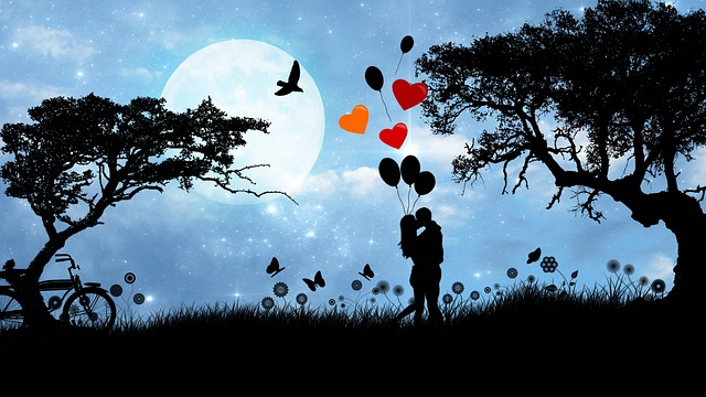 Couple, Romantic, Silhouette, Lovers, Love, Romance