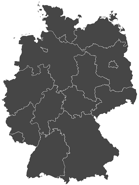 Germany, Silhouette, Regions, Map, Web Page