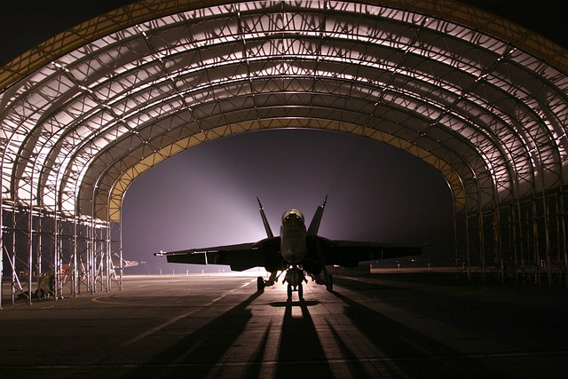 Hangar, Jet, Aircraft, Fighter, Silhouette, Light