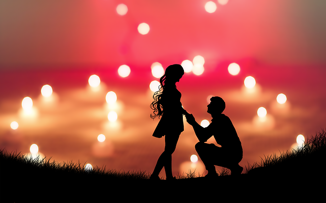Love, A Couple Of Lovers, Silhouette, Proposal