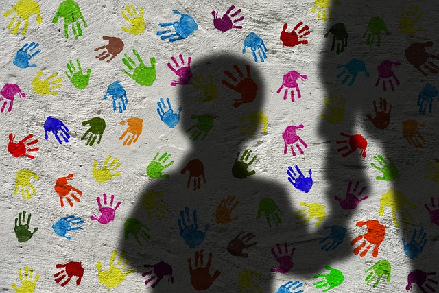 Silhouette, Man, Child, Shadow, Hand Holding, Hands
