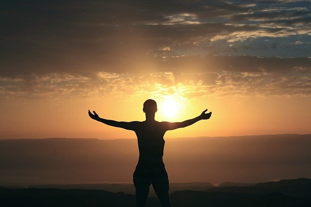 Morning, Sunrise, Woman, Silhouette, Sunlight