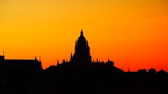 Silhouette, Sunset, Segovia, Views, Night