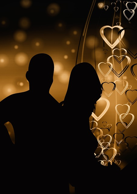 Pair, Silhouette, Lovers, Romance, Heart, Love