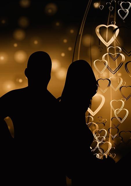 Pair, Silhouette, Lovers, Romance, Heart, Love