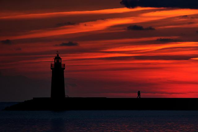 Sunset, Dawn, Sky, Silhouette, Sun