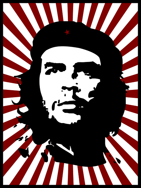 Che, Guevara, Red, Silhouette, Stripes, Revolution