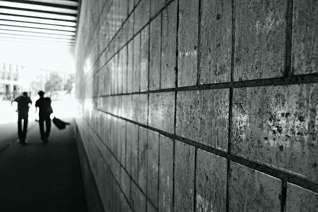 Tunnel, Passage, Urban, Wall, Silhouette, Light