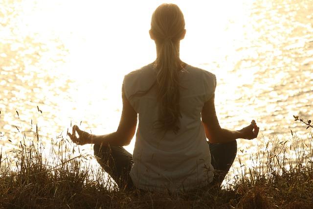 Meditate, Meditation, Peaceful, Silhouettes, Sunset