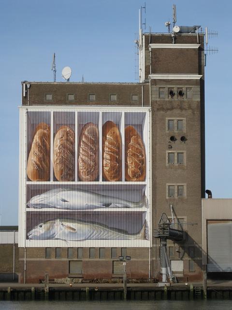 Bread, Fish, Silo, Port, Breskens, Zeeland, Netherlands