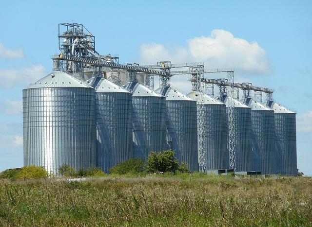 Silos, Grain Storage, Agriculture