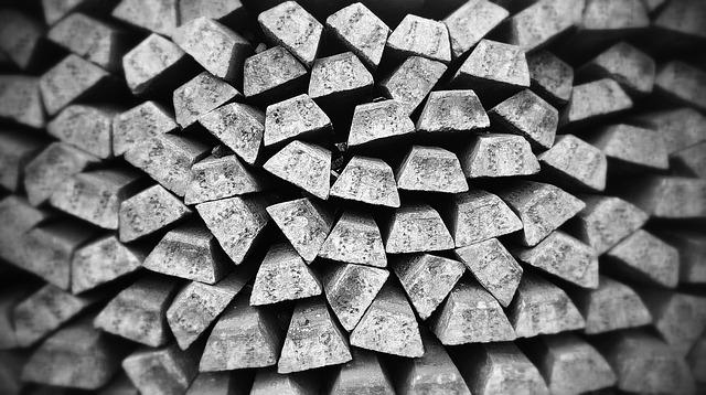 Bullion, Silver, Bar, Metal, Old, Gray, Blocks, Stack