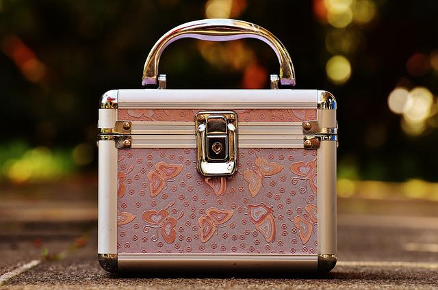 Briefcase, Pink, Silver, Cute, Luggage, Vanity Cases