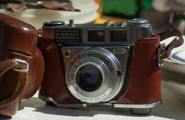 Photography, Old Device, Silver, Camera, Flea Market