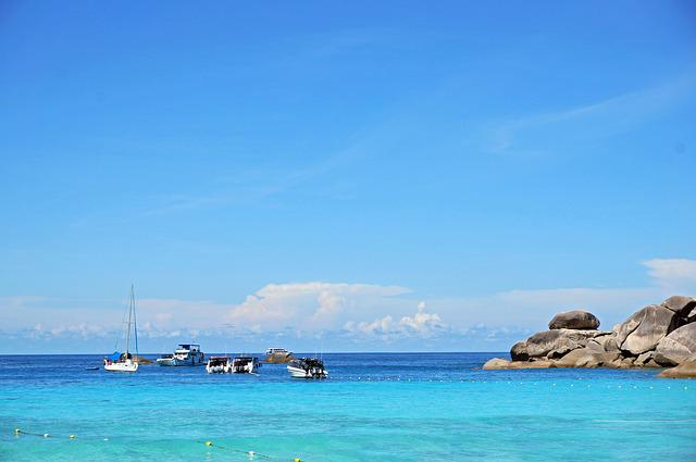 Thailand, Similan Islands, Sea, Ship
