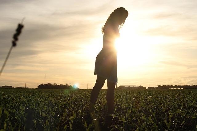 Saudade, Simple, Girl, Field, Corn
