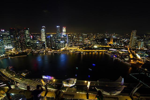 Singapore, Night View, Marina Bay