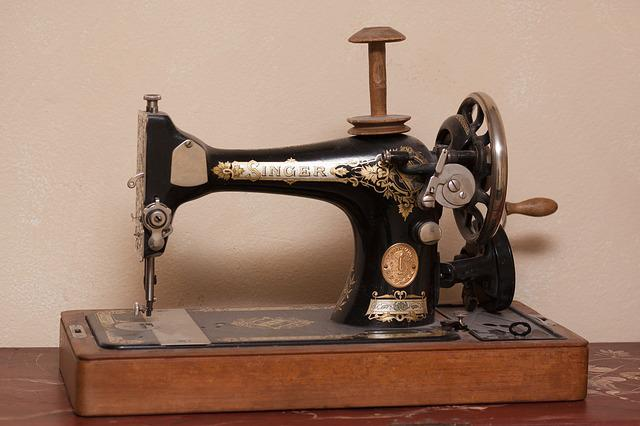 Sewing Machine, Singer, Old, Antique, Crank, Coil