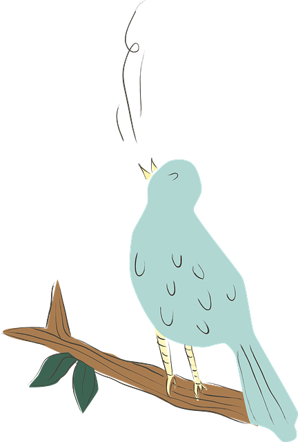 Bird, Blue, Singing, Nature, Animal, Cute, Cartoon