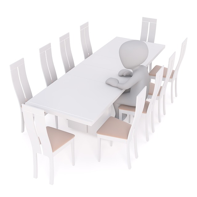 Table, Dining Table, Chairs, Kitchen, Alone, Single