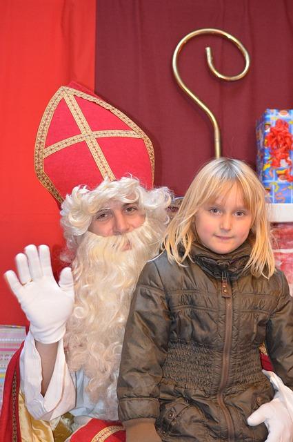 Saint Nicholas, Sint Nicolaas, Child, Girl, Beard