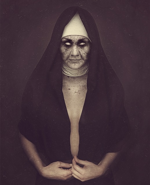 Nun, Zombie, Possessed, Dark, Demoniac, Sister, Undead