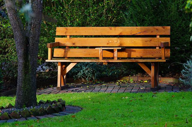 Garden, Wooden Bench, Cozy, Bank, Out, Sit, Nature