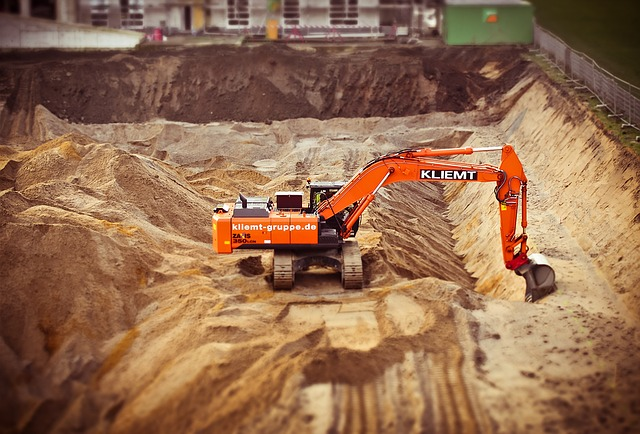 Excavators, Site, Construction Work, Work, Build
